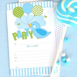 Birdy Blue Invitations & Envelopes