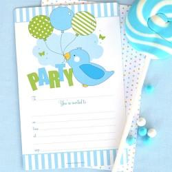Birdy Blue Invitations & Envelopes