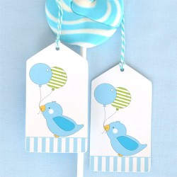 Birdy Blue Gift Tags