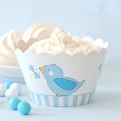 Birdy Blue Cupcake Wrappers