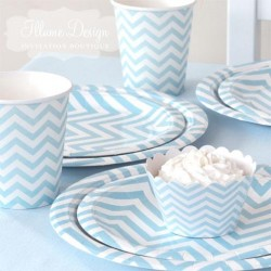 Chevron Blue Party Pack