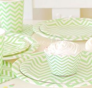 Chevron Green Party Pack