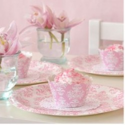 Damask Pink Party Pack