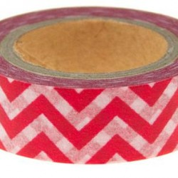 Washi Tape Red Chevron