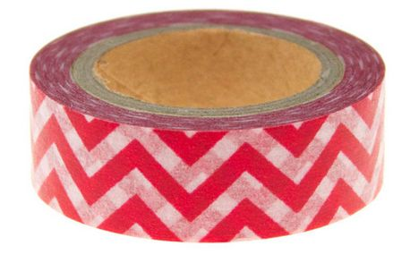 Washi Tape Red Chevron