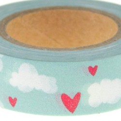 Washi Tape Hearts & Clouds