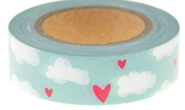 Washi Tape Hearts & Clouds