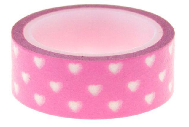 Washi Tape Little Hearts Pink