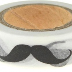 Washi Tape Moustaches Black