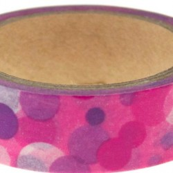Washi Tape Pink Purple Spots