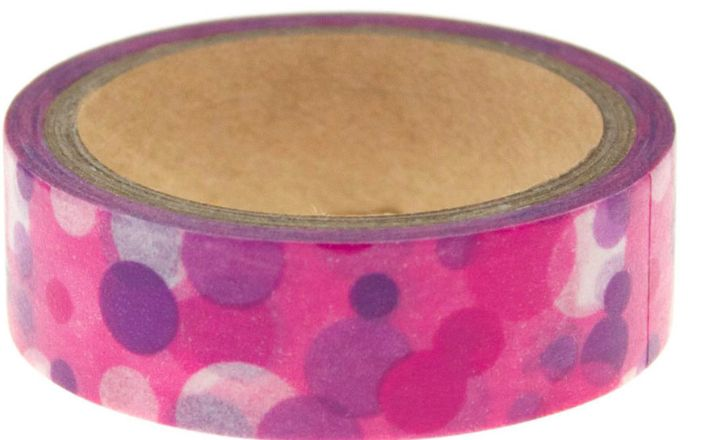 Washi Tape Pink Purple Spots