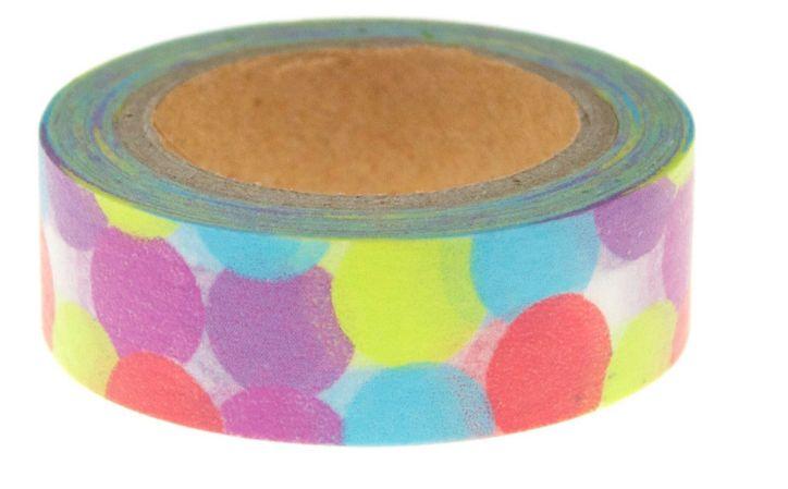 Washi Tape Rainbow Spots