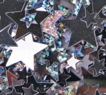 Scatters Metallic Stars