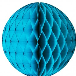 Tissue Honeycomb Blue Ball