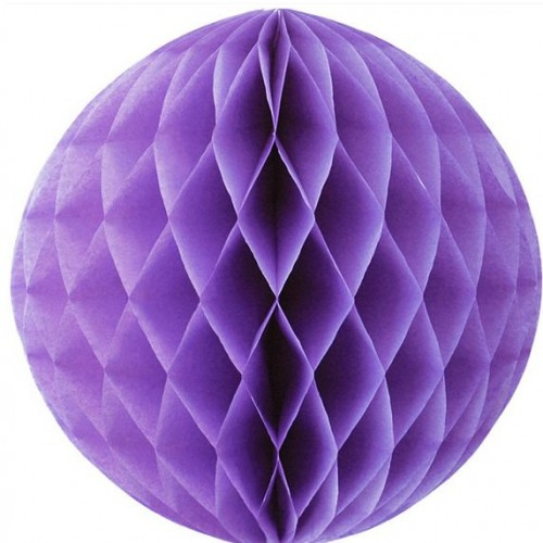 Tissue Honeycomb Mauve Ball