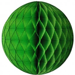 Tissue Honeycomb Lime Green Ball