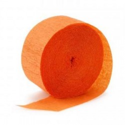 Streamer Orange Crepe