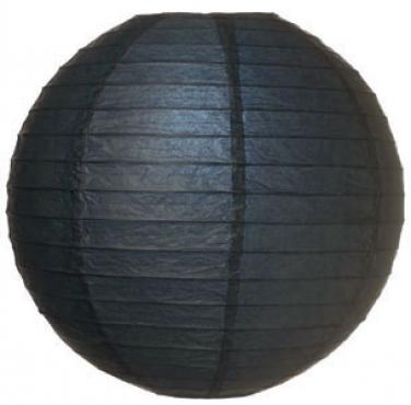 Lantern Round Paper Black