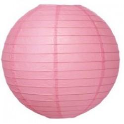 Lantern Round Paper Pink