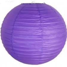 Lantern Purple Round Paper