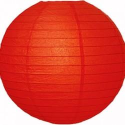 Lantern Red Round Paper