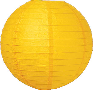 Lantern Yellow Round Paper