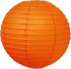 Lantern Round Paper Orange