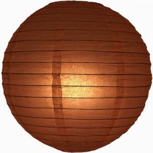 Lantern Round Paper Brown