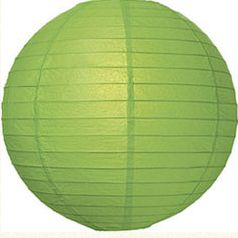 Lantern Round Paper Green