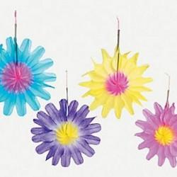 Tissue Starburst Flowers