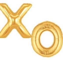 Balloon Letters XO Foil Megaloon Gold