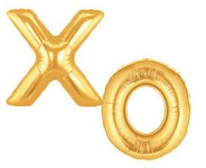Balloon Letters XO Foil Megaloon Gold