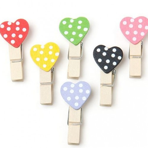 Pegs Dotted Heart