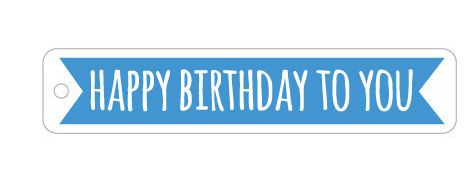 Gift Tag Blue Flag Happy Birthday