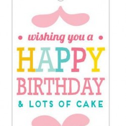 Gift Tag Cake Birthday Message