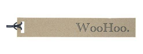 Gift Tag WooHoo Kraft Letterpress