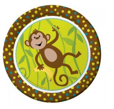 Banana Monkey Plates