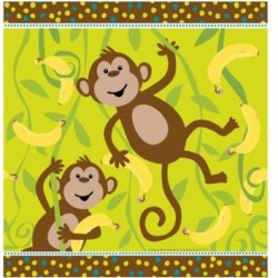Banana Monkey Napkins