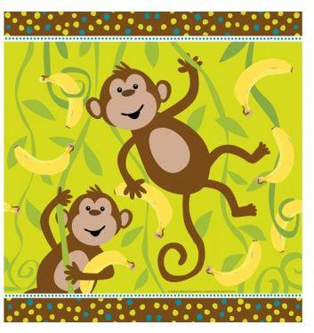 Banana Monkey Napkins