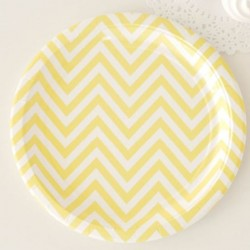 Chevron Yellow Plates