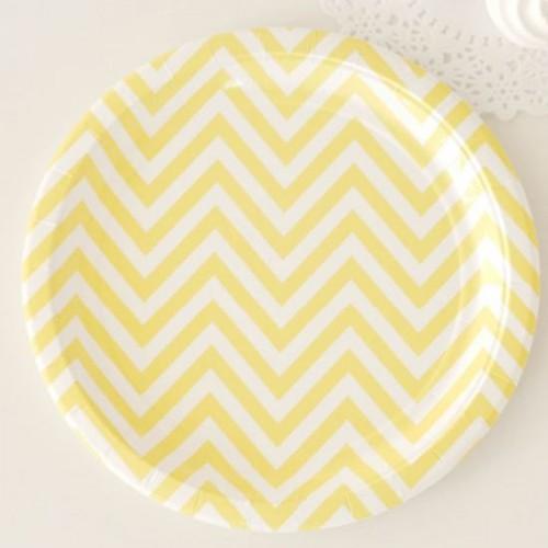 Chevron Yellow Plates