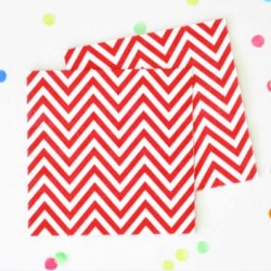 Chevron Red Napkins