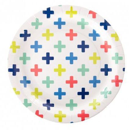 Crosses Paper Plates