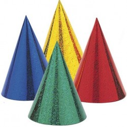 Rainbow Foil Party Hats