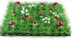Grass Mat Mushrooms/Flowers