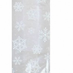 Snowflake Cellophane Treat Bags