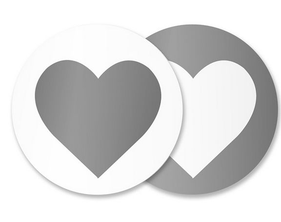 Heart Silver Sticker Seals