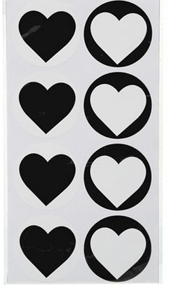 Heart Black Sticker Seals