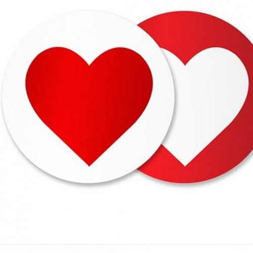Heart Red Sticker Seals