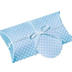 Pillow Box Blue Dotted